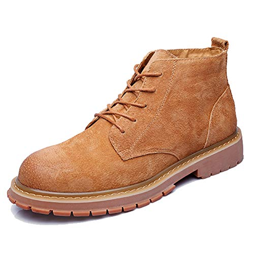 Leoed Mens Working, Bikers and Snow Belmont Chukka Boot Combat Boots Brown Size 7