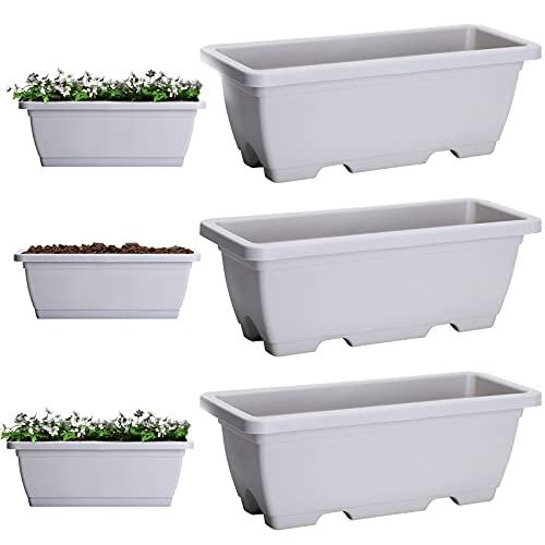 3 Paquetes Jardinera, jardineras Exterior,jardineras rectangulares Exterior,jardineras...