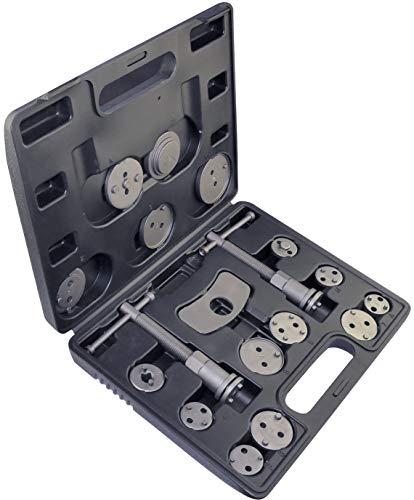 Aerzetix - Scatola/Set di 18 Pezzi Sostituzione del pistone di Pinza Freno - Adattatore di Regolazione Cilindro del Freno - Strumento Meccanica di Riparazione Freno a Disco - Pastiglie/Auto - C46586