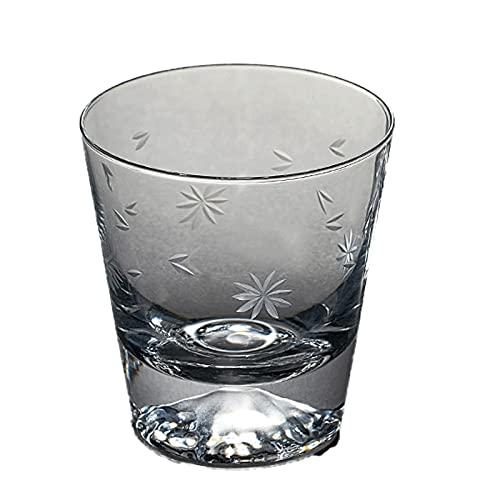 OMIDM Copa de Vidrio Cristal Cut Vidrio Conjunto de 4 Piezas 10 onzas de Vino Extranjero sin Plomo Cafetería, Whiskey Set de Vidrio Transparente Taza de Agua