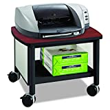 Safco Products Impromptu Under Desk Printer Stand 1862BL, Cherry Top/Black Frame, 50 lbs. Capacity, Contemporary Design, Swivel Wheels