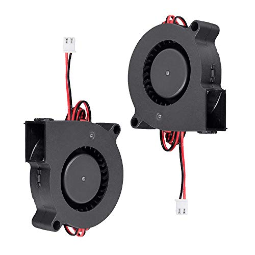 Furiga Ventilador de impresora 3D 24V DC 50X50X15mm 5015 Ventilador de refrigeración Radial Cable de 1M para disipador de calor 2PCS