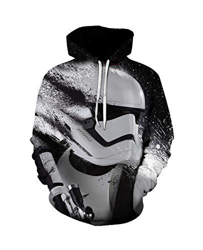 Hoodie Pullover Sweatshirt S-T-A-R W-A-R-S Pullover 3D Druck Unisex Langarm Sport Neuheit Mit Kapuze Mode Weiche Komfortable Männer (Color : A, Size : 6X-L)