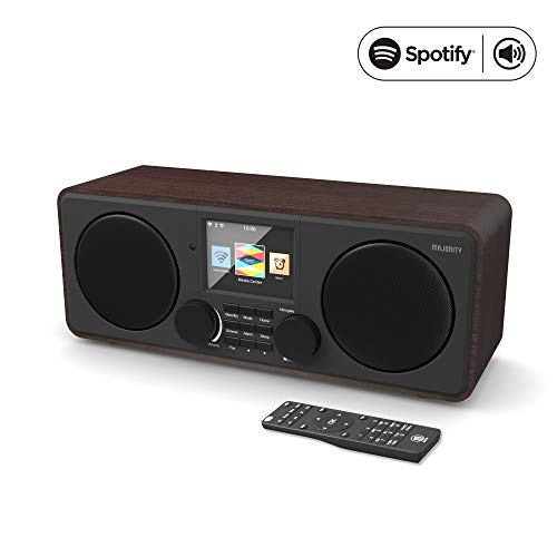 Majority Pembroke II Digital Dab/Dab + / FM y Radio por Internet - Bluetooth - Spotify - Entrada USB y AUX (Nogal)