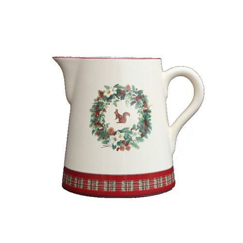 Faïencerie de Niderviller ~ Pichet Conique Roses des neiges N1 faïence