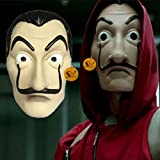Salvador Dali LA CASA De Papel Realistic Movie Prop Face Mask,Care and Cleaning: Spot or wipe clean Lets be the part of Famous LA CASA De Papel or The Money Heist by wearing this Artistic Face Mask Environmentally-Friendly Material- - Made of environ...