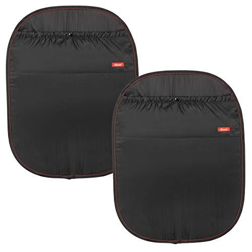 Diono Two2Go Stuff 'n Scuff Car Seat Back Protector for Newborn and Above, Black (2-Pack)