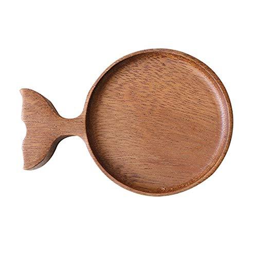 LQKYWNA Piatti di Salsa di Legno, Forma di Balena Ciotole da Immersione Stile Giapponese Piatto Condimento per Famiglie Ristoranti Negozi di Alimentari Sale da Pranzo