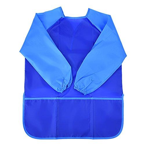 Mudder Tablier de Peinture Artistique Tablier Manchon Long Imperméable pour Baby (Bleu)
