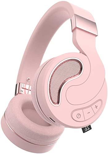 ZSW Auriculares plegables sobre la oreja 72 horas Auriculares inalámbricos Bluetooth/cableado/tarjeta TF 3 modos Hi-Fi estéreo Bass auriculares de memoria suave Orejeras construidas