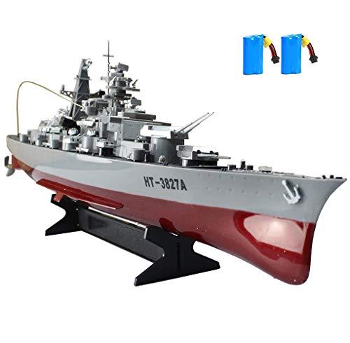 MEILINL RC Ferngesteuertes Mini Kriegsschiff Fregatte Schlachtschiff Schiff Boot 2.4Ghz Fernsteuerung Geeignet RC Schlachtschiff Modell Spielzeug Geschwindigkeit 6 Km/H