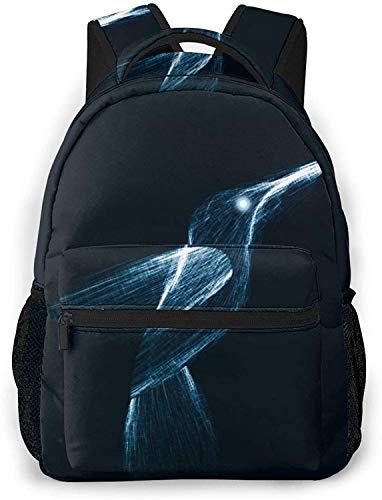 Modello Piggy Basic Travel Laptop Zaino Moda Scuola Bag-Neon Astratto Colibrì