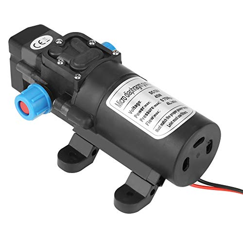 Weikeya Bomba de Agua de diafragma Negro, con plástico de ingeniería 17 * 9,8 * 6 cm Enchufe en la Bomba de Agua autocebante