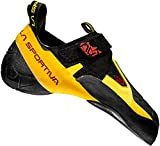 La Sportiva Men's Skwama Rock Climbing Shoe, Black/Yellow, 42.5