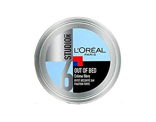 L'Oréal Paris Studio Line Out of Bed Crème Coiffante Cheveux Homme Effet Décoiffé Fixation Forte 150ml