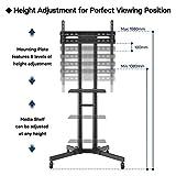 Zoom IMG-1 bontec supporto tv ruote per