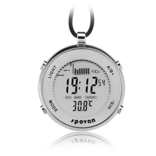GCM Reloj de bolsillo unisex impermeable de metal digital para actividades al aire libre, apto para escalada, correr, pesca, competición y otros deportes