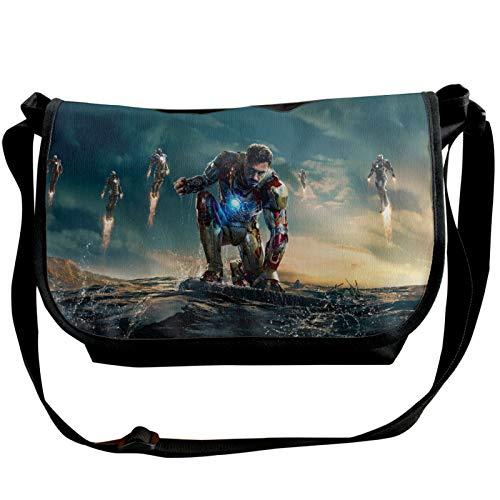 MEIRIGO Iron Man Durable Daily Straddle Shoulder Bag Package Single Shoulder Pack Black for Men Women
