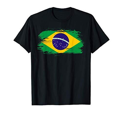 Brasilien Flagge – Brasilien Fußball Fahne Brazil Wappen T-Shirt