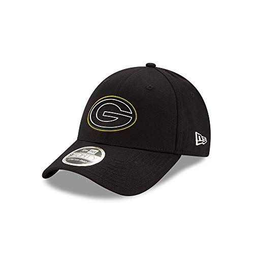New Era Green Bay Packers 9forty Stretch Snapback Cap NFL 2020 Draft Black - One-Size