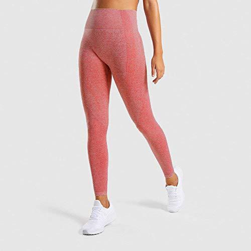WWZEMLK Yoga Pantalonespantalones De Yoga Naranja Sin Costuras De Cintura Alta Push Up Legging Deporte Mujeres Fitness Leggings para Correr Pantalones Flacos Sin Costuras Gym Girl Leggins, S