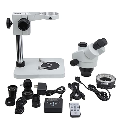 eboxer-1 21MP USB 2K Microscope Camera 7X-45X Zoom Microphone Stereoscopic Microscope for Industrial Inspection and Biological Laboratory(Transl)