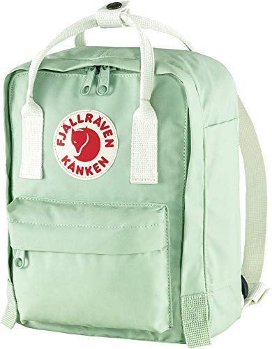 Fjallraven Unisex Adult Kånken Mini Backpack, Mint Green-Cool White, OneSize