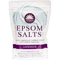Sales de baño naturales con sulfato de magnesio Elysium, aroma alavanda