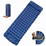 Camping Sleeping Pad with Pillow Inflatable Air Mattress for Hiking and Backpacking 2021 Upgrade Waterproof Outdoor Camping Mat