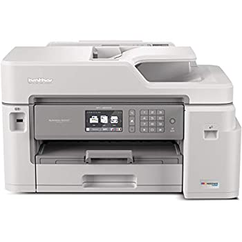 Brother Inkjet Printer MFC-J5845DW INKvestment Color Inkjet All-in-One Printer with Wireless Duplex Printing and Up to 1-Year of Ink In-box Amazon Dash Replenishment Ready