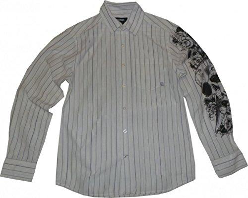 Etnies Skateboard Hemd White/Lavende Stripes, Grösse:L