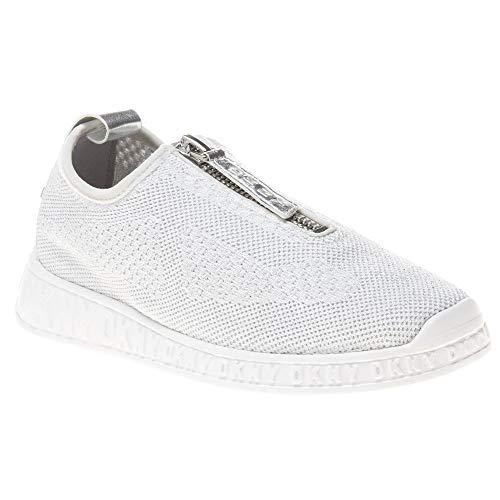 DKNY Damen Melissa Joggingschuhe Sneaker Silber 37 EU