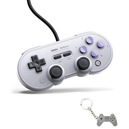 AKNES usb-game-controller für pc, 8bitdo sn30 pro wired controller / gamepad für raspberry pi, laptop und nintendo switch - (sn ausgabe)