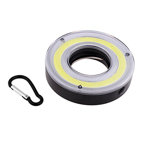 perfeclan Lámpara LED COB para Exteriores, Tienda de Campaña, Gancho, Linterna, Luz de Emergencia con Mosquetón