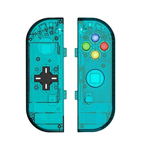 C-FUNN behandelt Shell Case Beschermende Vervangende Accessoires Voor Nintendo Switch Joy-con Controller, Blauw
