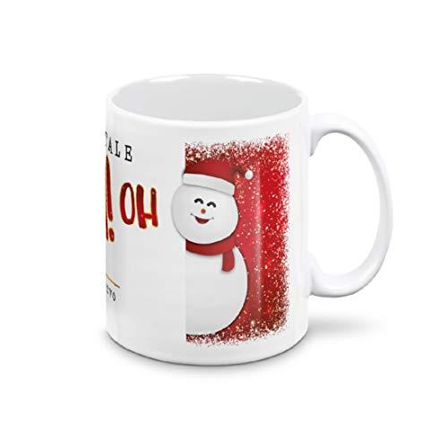 Mugnue Taza Mug – Muñeco de nieve OH OH OH Feliz Navidad – Regalos económicos – Tazas de desayuno – con caja blanca (muñeco de nieve OH OH OH OH Feliz Navidad)