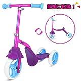 SWAGTRON キックボード 子供 三輪車 2way兼用 子供用 キックスクーター ペダルなし自転車 乗用玩具 おもちゃ 安定 ピンク