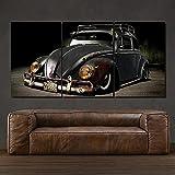 Black VW Käfer Retro altes klassisches Auto