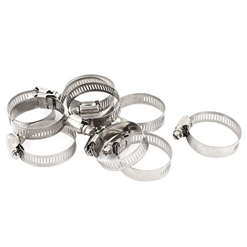 10 piezas de acero inoxidable ajustable para abrazaderas de tubo flexible para tuberías de aro 21-44mm