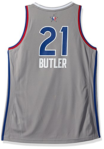 NBA Women's Chicago Bulls Jimmy Butler 2017 All-Star Replica Jersey, Small, Gray