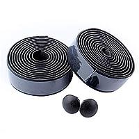 ハンドルバーテープ サイクリングハンドルバーテープEVA固定ストラップ滑り止め防水装飾バイク 快適で耐久性 (色 : Black, Size : 190x3x0.3cm)