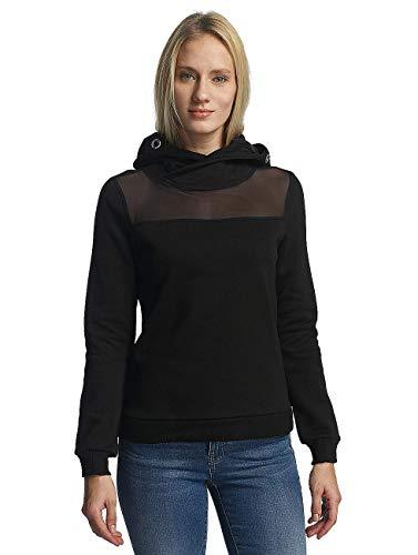 ONLY Damen onlTRENTO L/S Hood SWT Kapuzenpullover, Schwarz (Black Black), 38 (Herstellergröße: M)