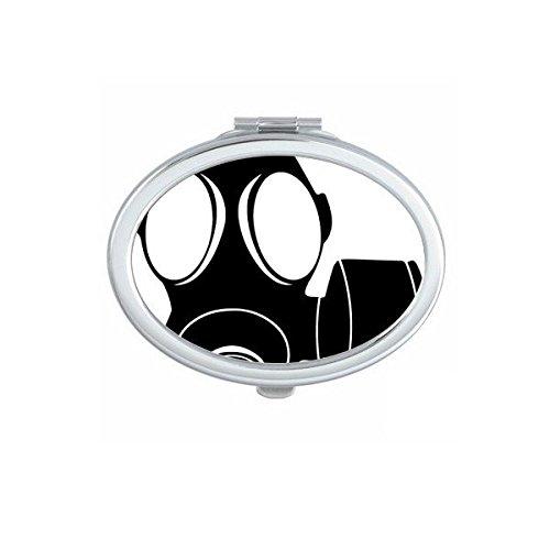 DIYthinker La Contaminación Especial Armas Counter Strike Antigás De La Silueta del Modelo Oval Maquillaje Compacto Espejo De Bolsillo Portátil Espejos Linda Pequeña Mano