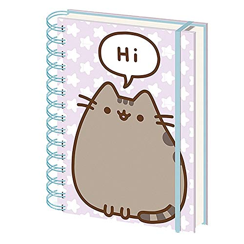 Genuine Pusheen sagt Hallo A5 Wiro Hardback Journal Notizbuch Notizblock