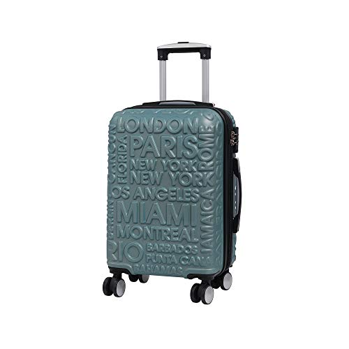 it luggage Destinations II - 8 Wheel Hard Shell Single Expander with TSA lock Suitcase, 54 cm, 48 L, Ice Blue