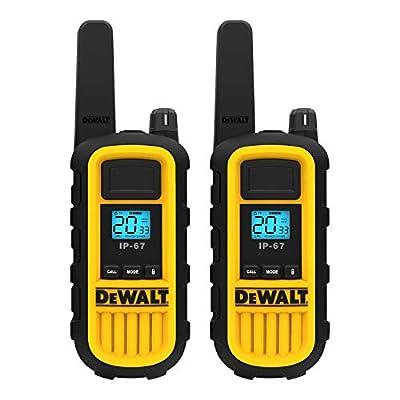 DEWALT DXFRS800 Heavy Duty Walkie Talkies - Waterproof, Shock Resistant, Long Range & Rechargeable Two-Way Radio with VOX (2 Pack) from Altis Global Limited
