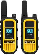 DEWALT DXFRS800 2 Watt Heavy Duty Walkie Talkies - Waterproof, Shock Resistant, Long Range & Rechargeable Two-Way Radio with VOX (2 Pack)