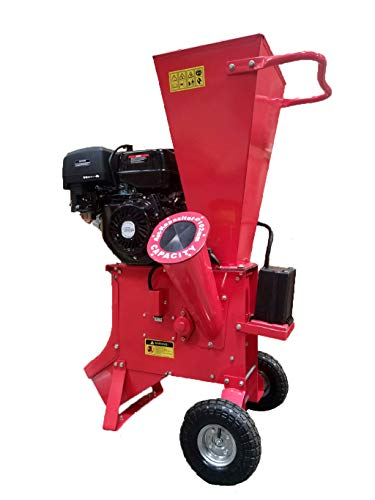 15HP 420CC Gas Powered Wood Chipper Shredder Mulcher, 4' Capacity, with...