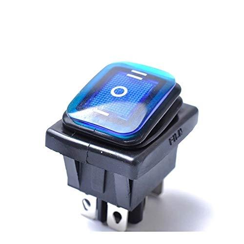 Ymhan Rocker Switch On-Off-On 6 Pin 12V del Coche del Barco Interruptor de la luz LED del Eje de balancín de Palanca de Enclavamiento Interruptor a Prueba de Agua 30A 125VAC