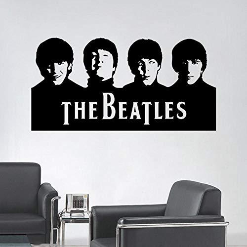Huisdecoratie PVC Milieubescherming Band De Beatles Karakter Avatar Art Muursticker Grootte 57x29cm